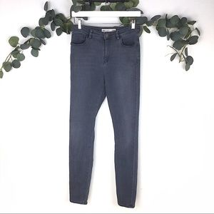 ASOS Grey Skinny High Rise Jeans Size 28